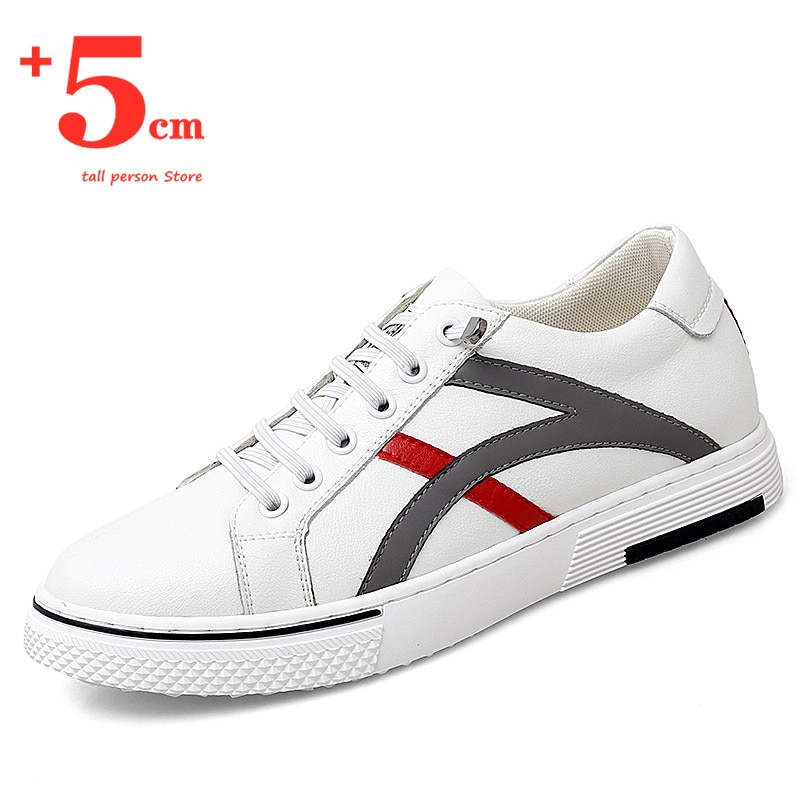 Sneakers Men Elevator Shoes Sports Man Increase Insole 5cm Height Increasing Shoes High Top Shoes Ta