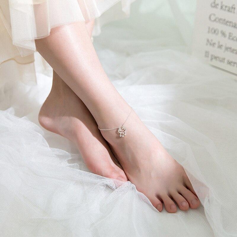 Colusiwei Style National argent Bracelets de cheville pour les femmes chine longue durée serrure chaîne Bracelets pour jambe pied bijoux accessoires féminins