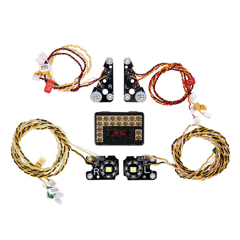 Luces LED delanteras traseras de coche RC grupo de luces para 110 RC Rock Crawler Trx-4 Traxxas TRX-4 TRX4