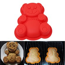 17*15.5*3cm Bear Shape 3D Silicone Cake Mold DlY Cartoon Baking Tools Bakeware Maker Mold Tray Baking Cake Moulds