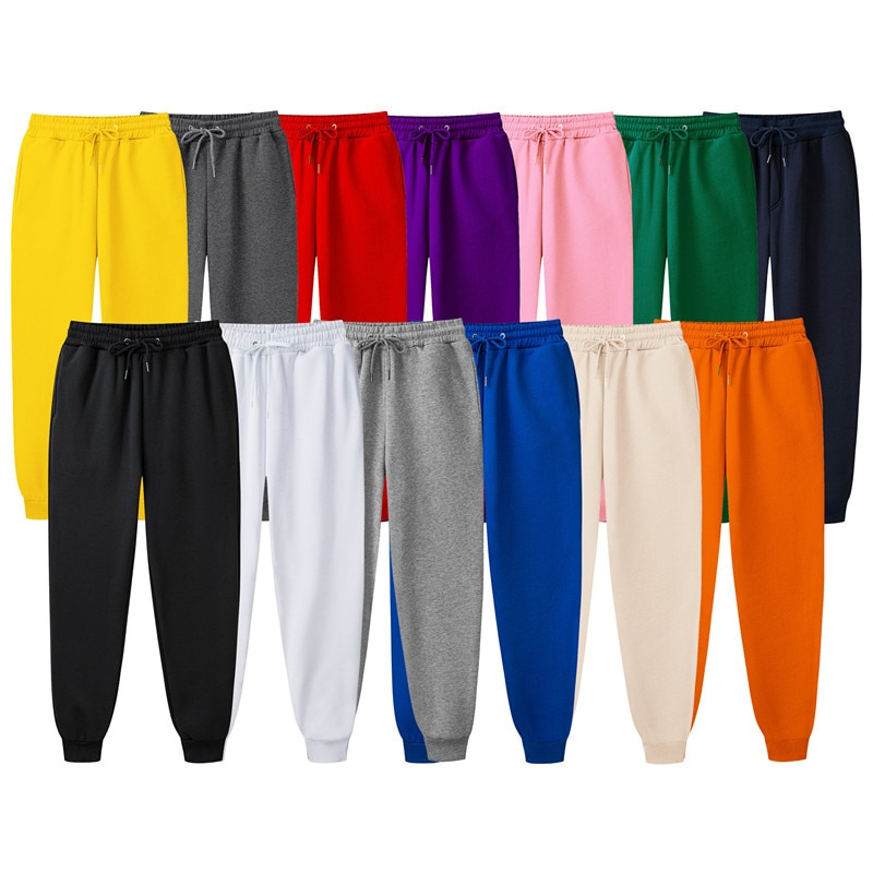Fashion Brand Men's jogging pants casual pants Fitness men's sportswear pants trousers Solid Color jogging Workout Casual Pants