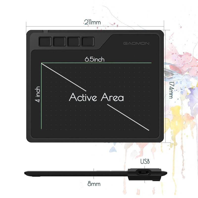 6.5x4 inch S620 digital board, supporting Android, mobile phone, windows, Mac OS, graphics system, drawing and playing tablet, enlarge