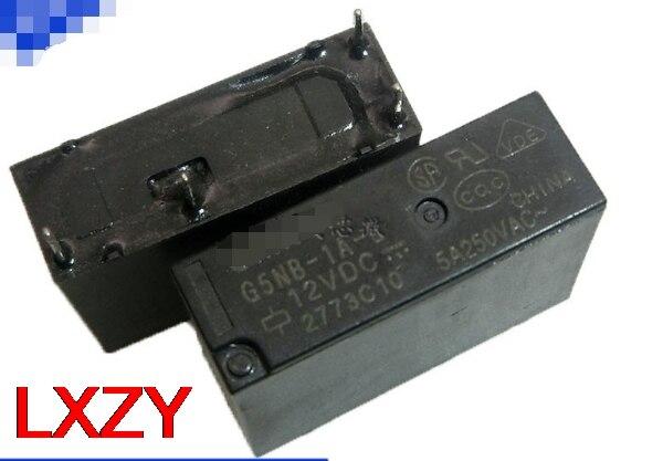 Free Shipping 5pcs/LOT Origional Product G5NB-1A-E-5VDC 12VDC 24VDC DC5V DC12V DC24V 5A Electric Relay