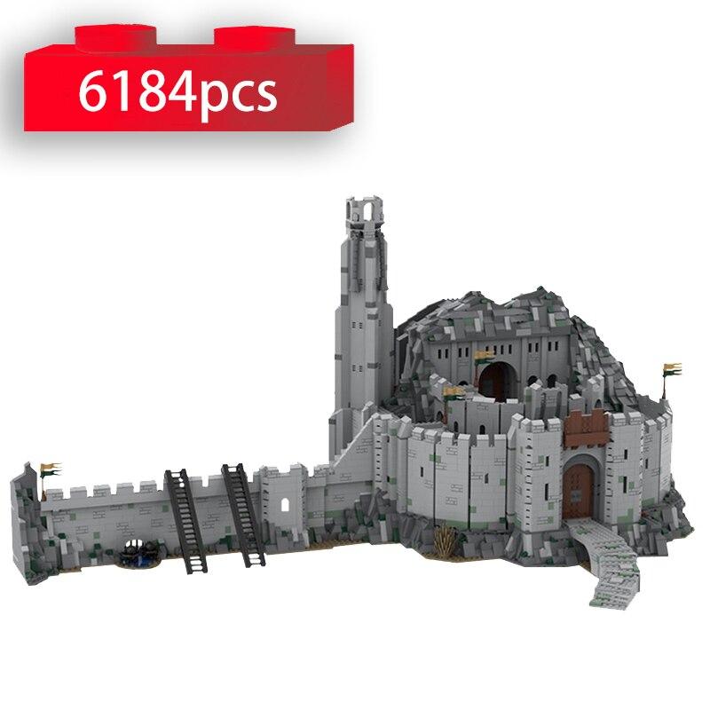 هيلم العميق UCS مقياس العالم الشهير القرون الوسطى القلعة العمارة اللبنات MOC-41261 الطوب لتقوم بها بنفسك لعب للأطفال الهدايا