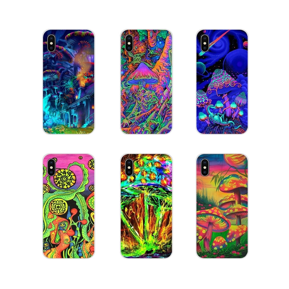 Accessories Phone Cases Covers trippy Mushroom For Samsung A10 A30 A40 A50 A60 A70 M30 Galaxy Note 2