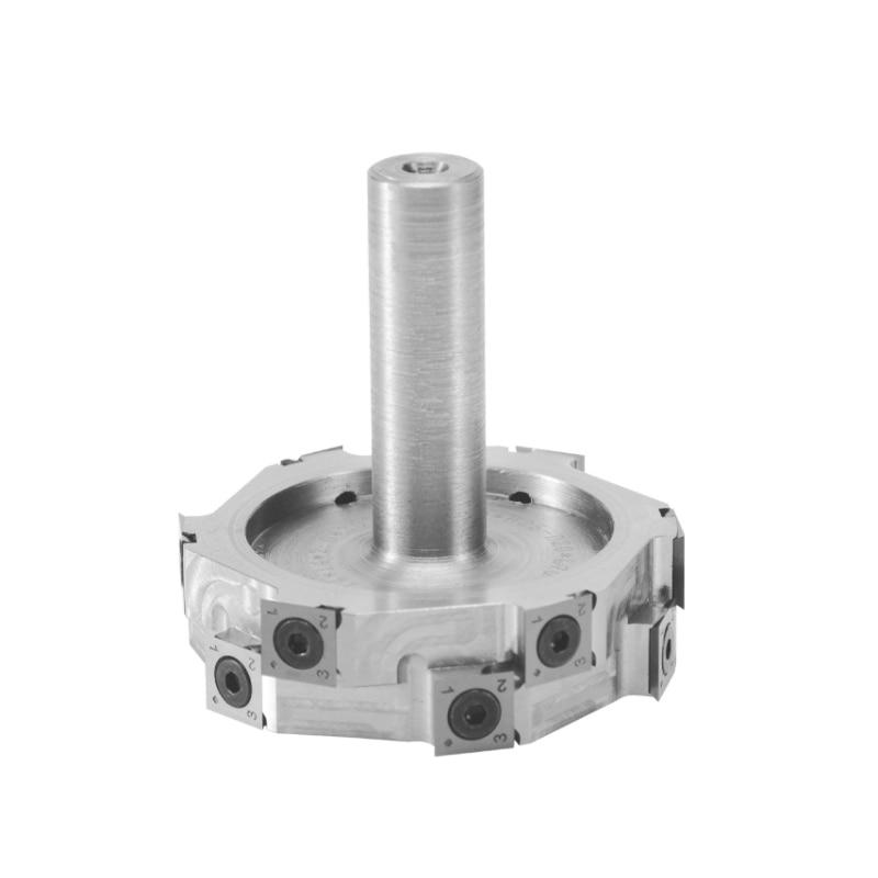 LivterSpiral Milling Cutter T-type Helical Cutter Head Alloy Steel Aluminum Alloy Cutterhead  Woodworking CNC Machines enlarge