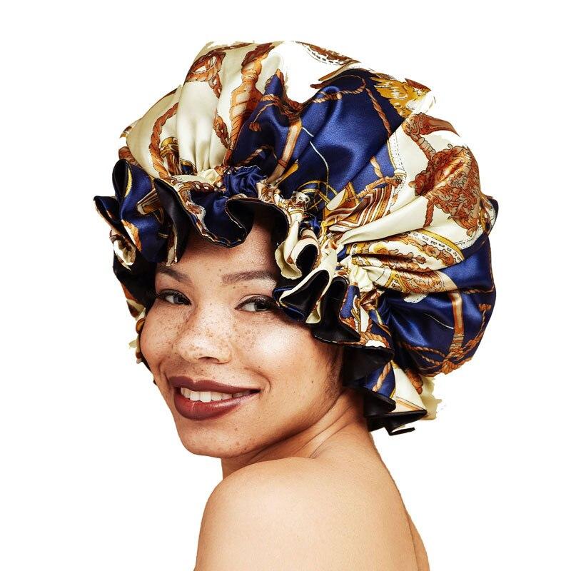 Bonnet de nuit pour femmes   Bonnet, casquette de nuit pour femmes, doublure Satin, couvre-chef doux, couvre-chef Extra Large, soins capillaires, vente en gros