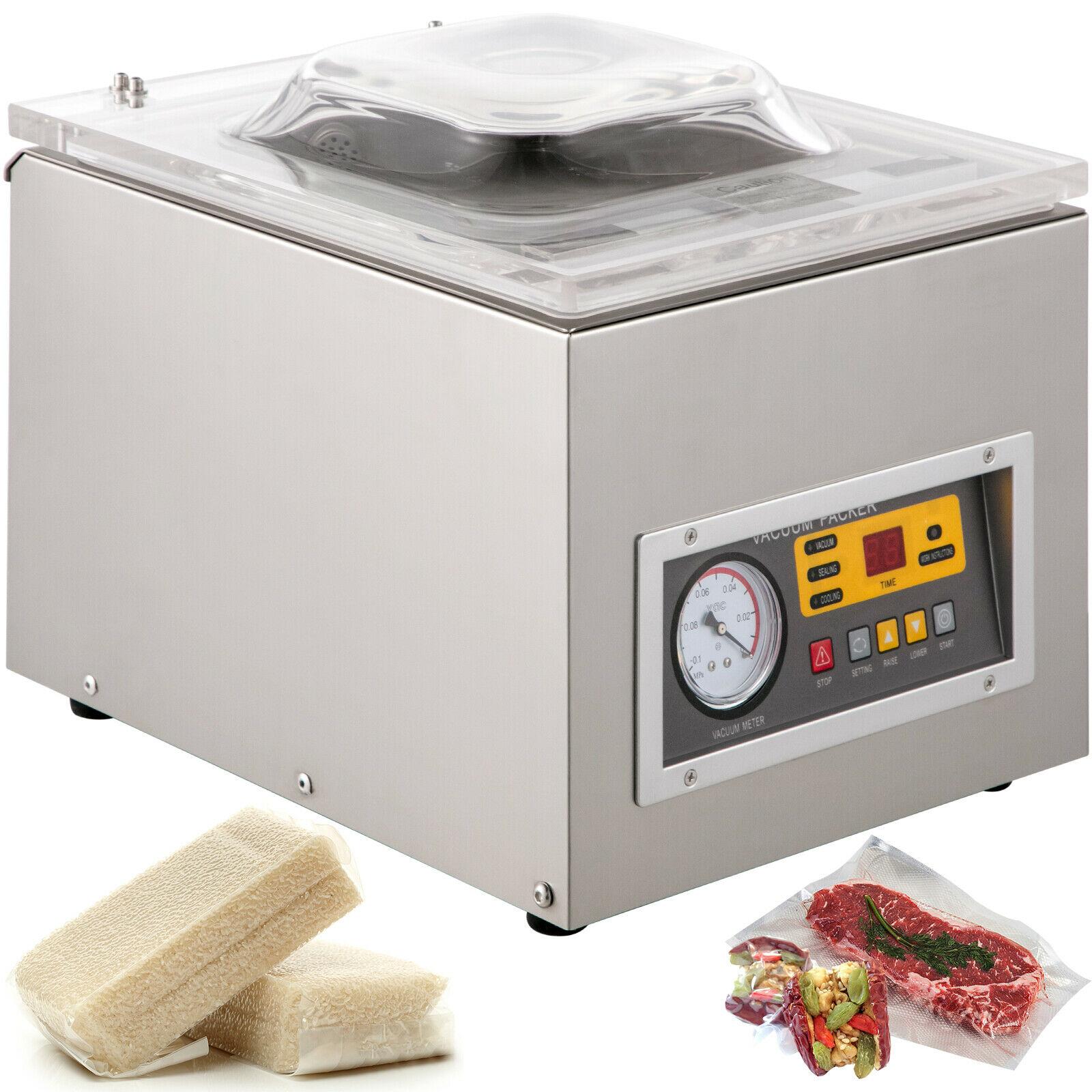 حقيبة بلاستيكية مفرغة الهواء السدادة ماكينة تعبئة وغلق للمطبخ الغذاء المهنية إنتاج الأعمال 120 واط