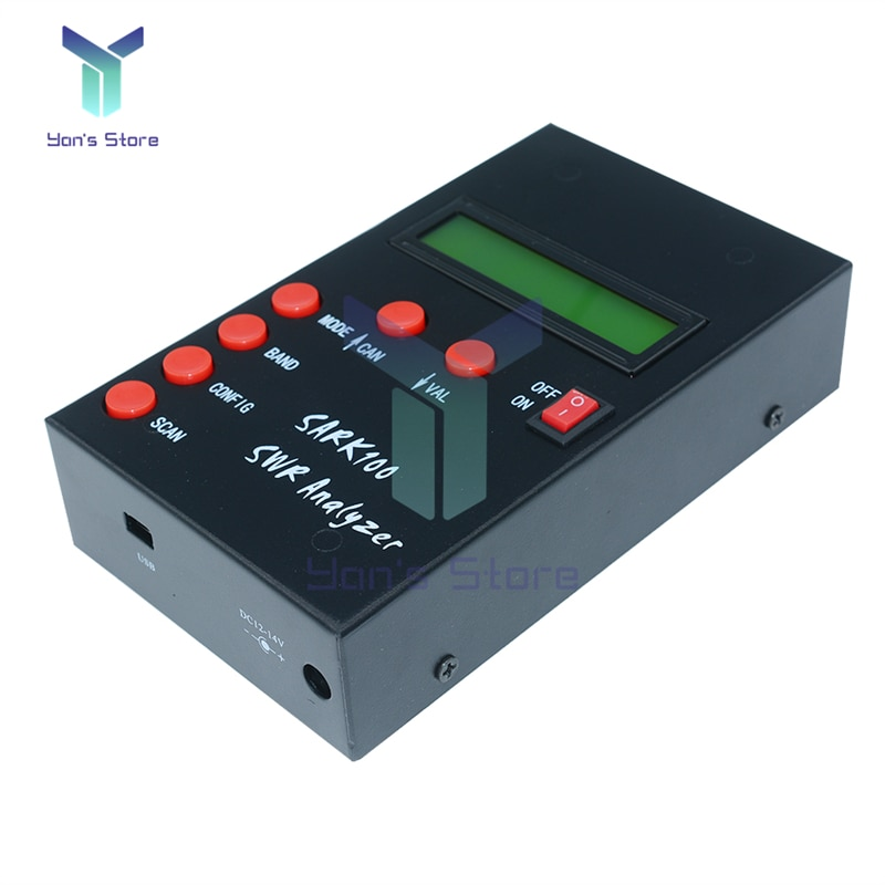 SARK100 1-60MHz ANT SWR Antenna Analyzer Standing Wave Tester For Radio Hobbyists Impedance Capacitance Measurement
