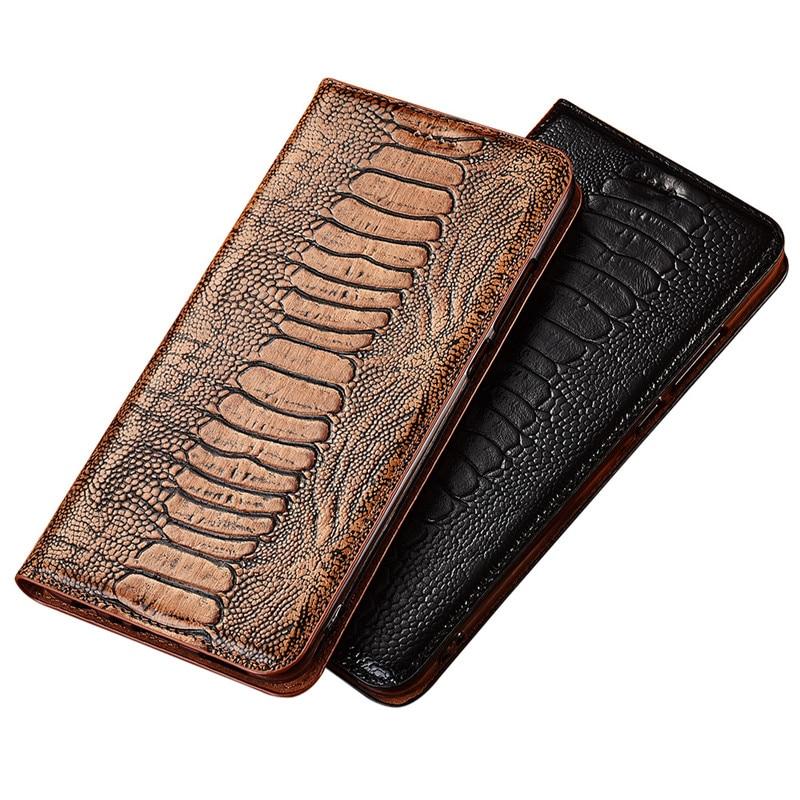 جلد طبيعي النعامة نمط فليب غطاء Kickstand الحالات الهاتف ل موتورولا موتو G8 موتو G100/موتو G10/موتو G30 حالة كوكه