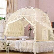 Moustiquaire de yourte mongole   À Double porte, fermeture éclair, fond de protection, Installation gratuite, moustiquaire pour un étudiant, tente de lit