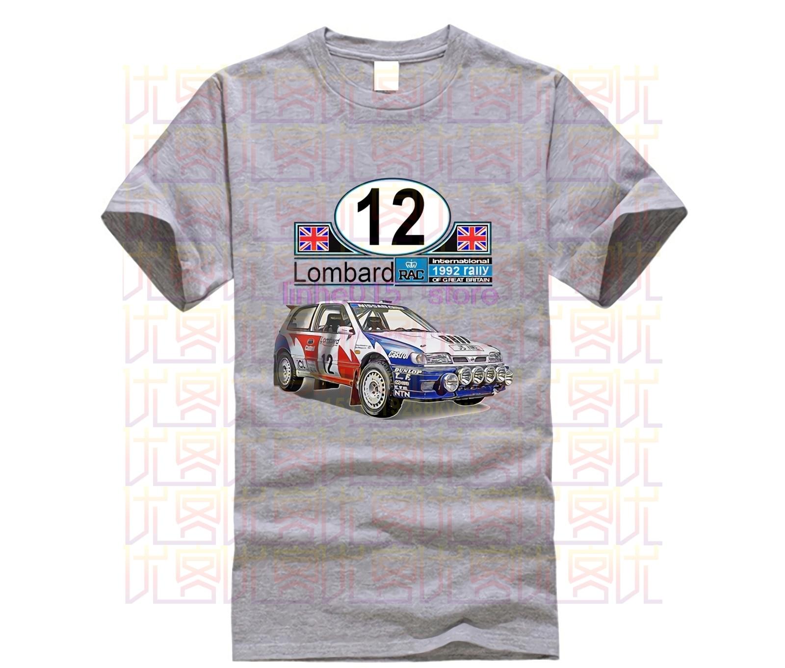 2019 moda 1992 japonés fans del coche Sunny GTI-R grupo A Lombard RAC Rally suave algodón camiseta Jdm camiseta