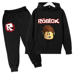 New Spring Autumn Unisex Fashion Casual Cotton VR Game(RoBloxing) Pattern Print Long Sleeve Pullover Hoodie+Pant Suit