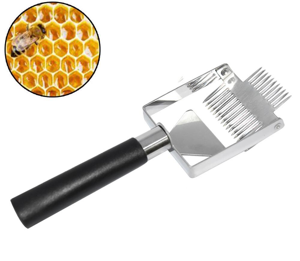 Honey Uncapping Tool, Scraper Wooden Handle Stainless Steel Beekeeping, Equipment Tool for Beekeeper