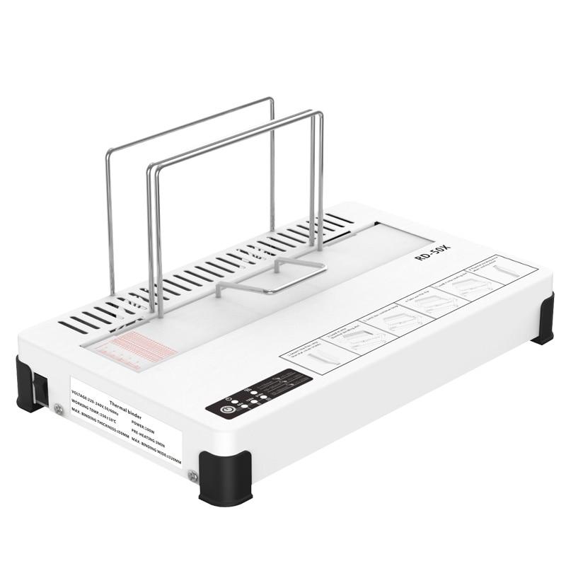 100 واط RD-50X الساخن تذوب الحرارية الموثق سطح المكتب الغراء كتاب ماكينة تجليد وثائق العقد كتاب المغلفات الساخن تذوب ماكينة تجليد