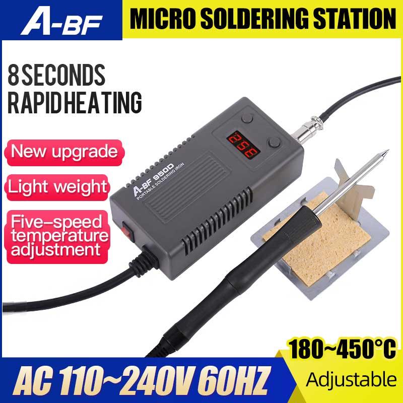 A-BF 950D микро паяльная станция 50 Вт Мини Интеллектуальная температурная Регулируемая ремонтная электрическая паяльная станция с быстрым наг...