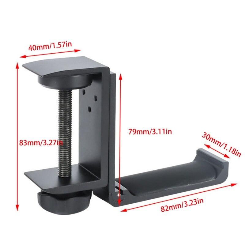 Soporte Universal de aleación de aluminio para auriculares... colgador de auriculares plegable ajustable de alta calidad