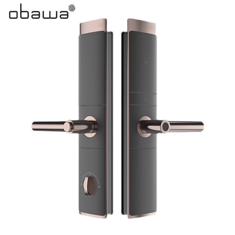 Get Obawa Smart Door Lock Biometrico Fingerprint Lock Smart Home Security Eletronic Digital Lock Password IC Card C321