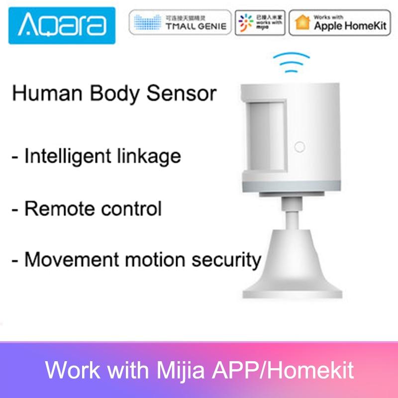 Aqara-capteur de présence humaine, mouvement ZigBee, connexion sans fil, sécurité et connexion sans fil, passerelle d'intensité lumineuse 2 Mi home APP, 100%