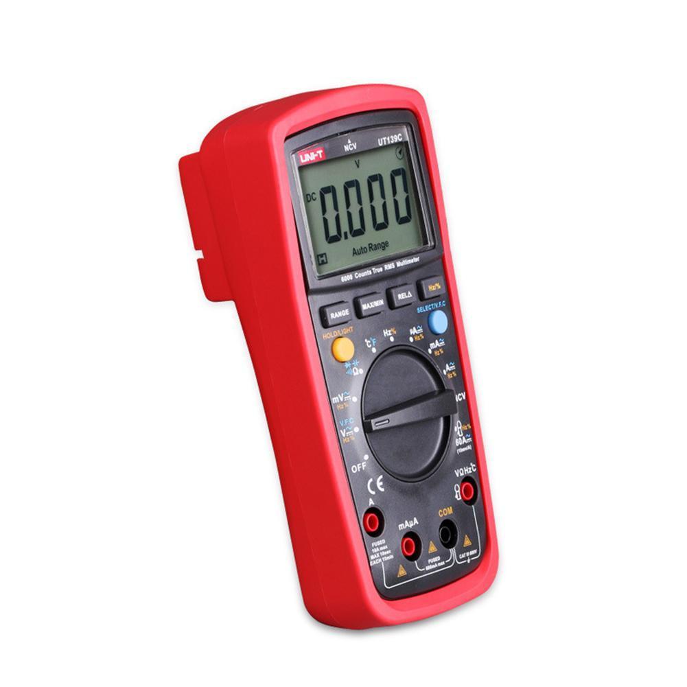 Multímetro Digital de rango automático UNI-T UT139C con valores eficaces verdaderos LCD AC/DC