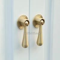 european 4pcs drop shape pure brass furniture handles drawer pulls cupboard wardrobe kitchen wine cabinet pulls handles knobs