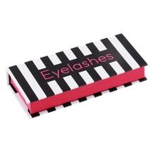Organisateur classique de boîte de rangement de bijoux cosmétiques de faux cils de conception de bande