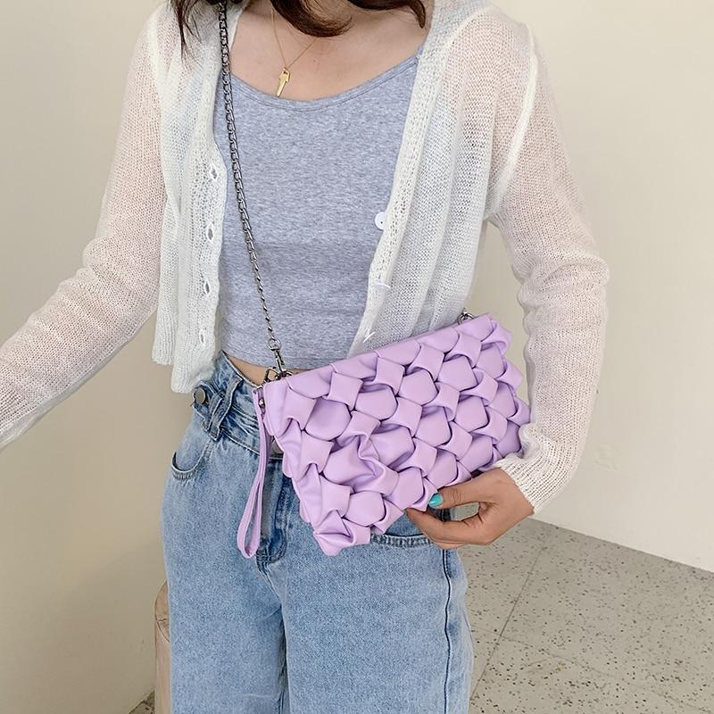 Women Purses And Handbags Sac Luxury Clutches Shoulder Bags For Women 2021 Designer Bag Leather Crossbody Bag Metal Chain недорого
