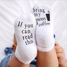 Nouveauté drôle dictons bébé coton équipage chaussettes antidérapant pince si vous pouvez lire ce caoutchouc lettres imprimé bonneterie cadeaux