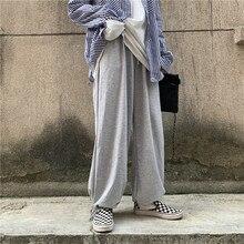 Casual Pants Women's Korean Ins Harajuku Retro Hong Kong Style Loose All-Match Bf Straight Thin Look