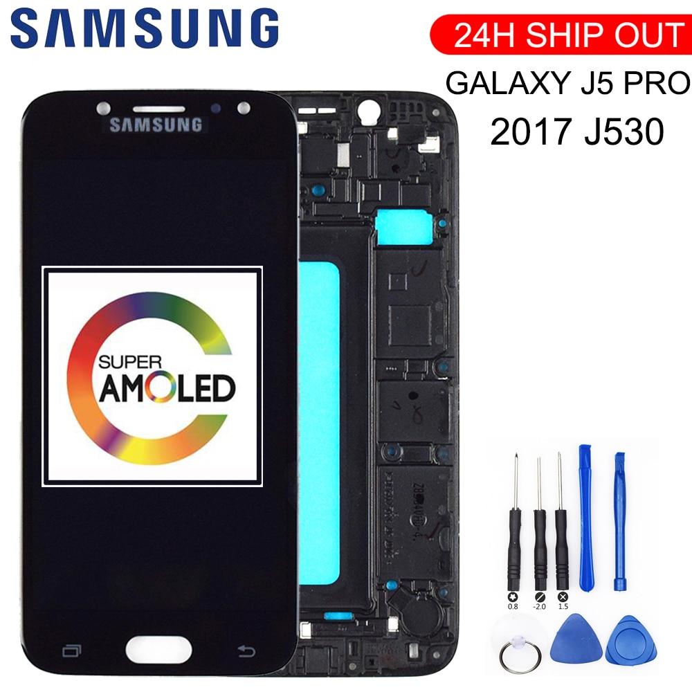 "Nueva pantalla LCD de 5,2 ""Super AMOLED para SAMSUNG Galaxy J5 2017, pantalla táctil para SAMSUNG Galaxy J5 Pro, pantalla LCD J530 con marco"