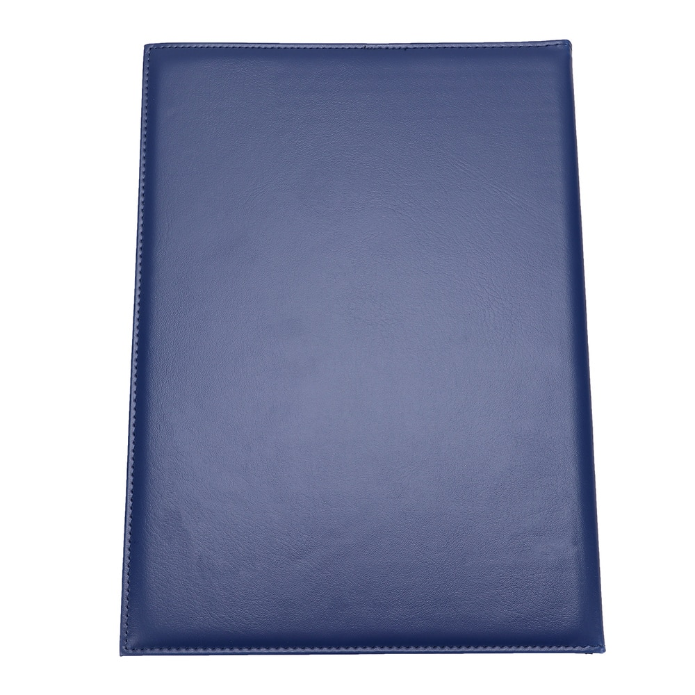 A4 Leather Certificate Cover Certificate Folder Blank Cover Protective Case (Blue)