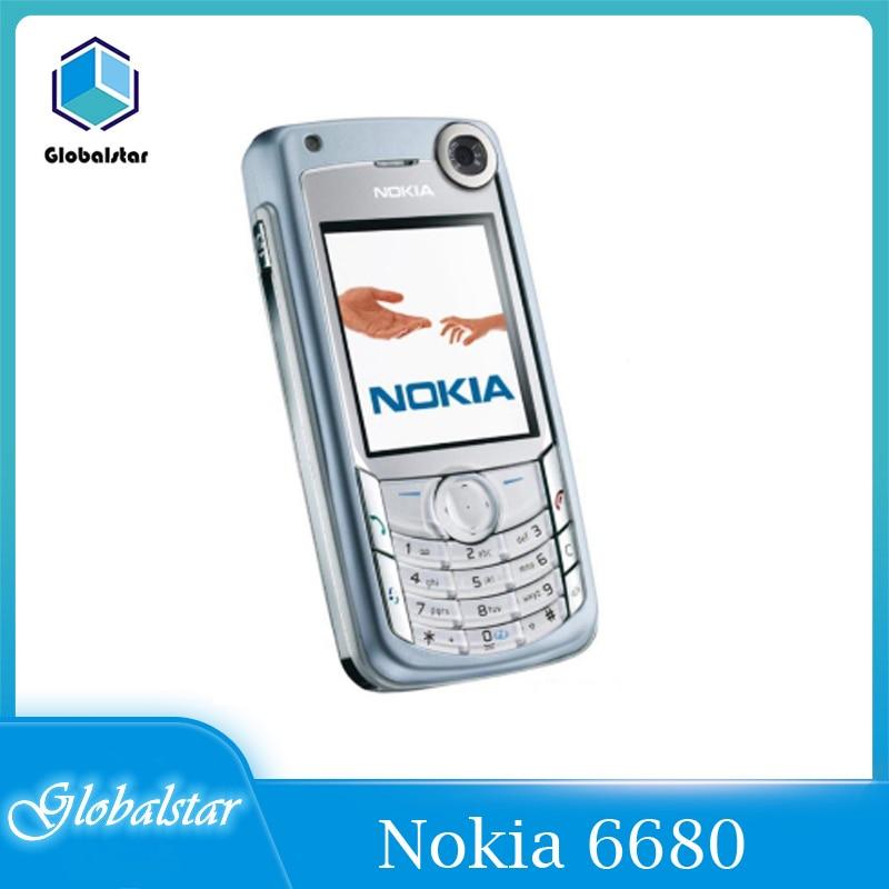 Перейти на Алиэкспресс и купить Nokia 6680 Восстановленное Оригинальный разблокирована Nokia 6680 мобильный телефон 2,2 дюймов 2G/3G с Bluetooth для мобильных телефонов, бесплатная достав...
