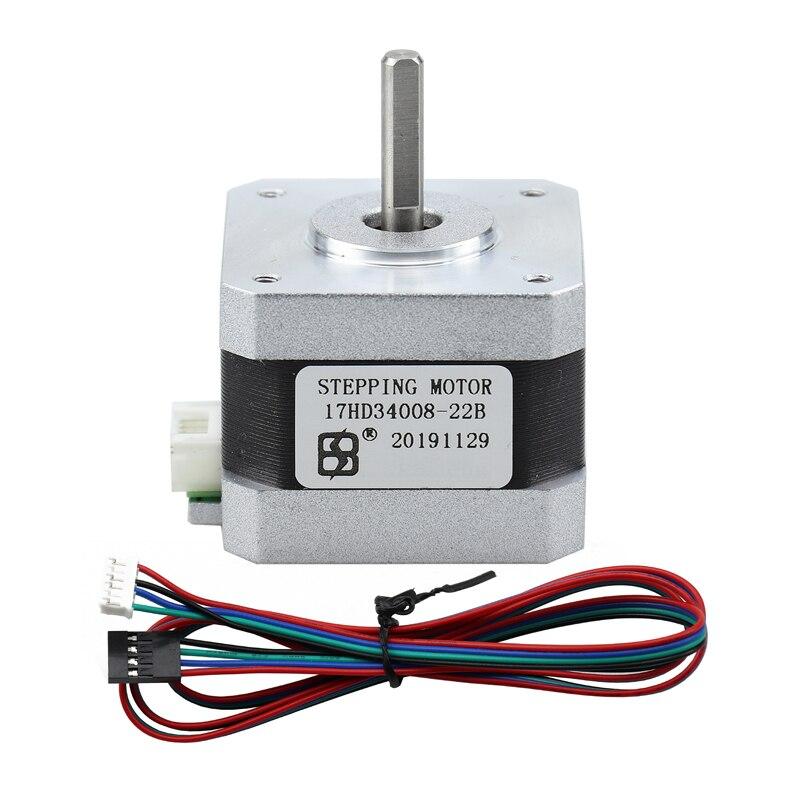 Nema 17 moteur pas à pas 34mm 42 diamètre extérieur imprimante 3D CNC machine de gravure moteur pas à pas 17HD34008-22B ventes directes dusine