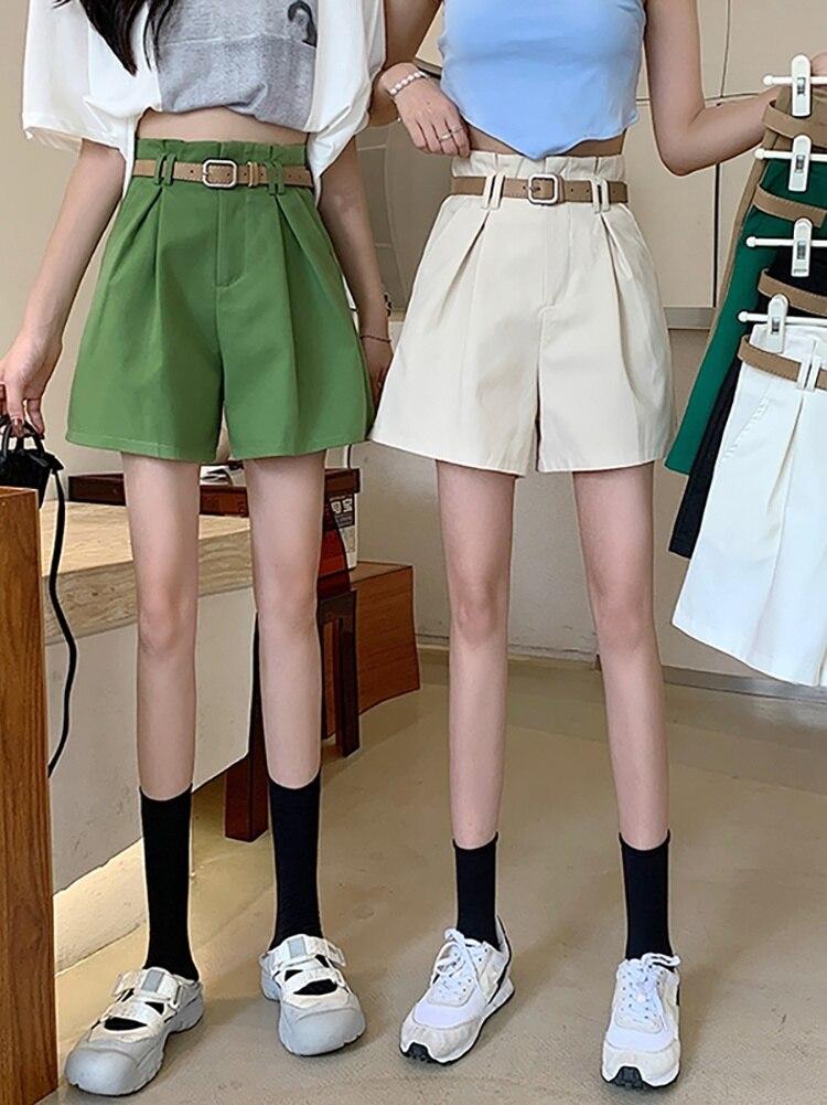 Shorts Summer 2021 Trousers Women New High Waist Slim White Wide Leg Pants Casual Pants Loose Women'