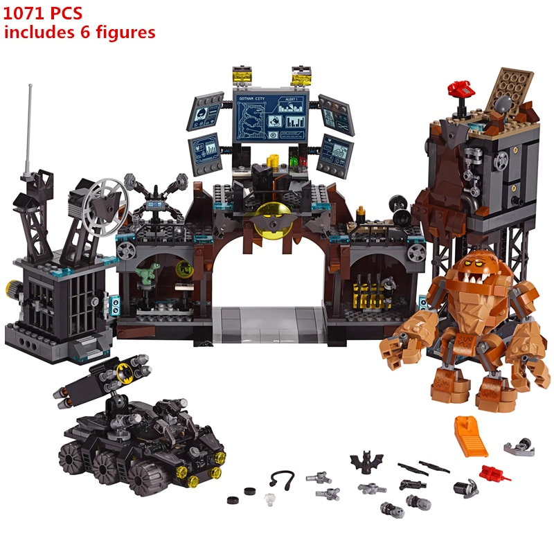 1071 Uds. Superhéroe DC Batman Batcaves Clayface invasión modelo de bloques de construcción juegos ladrillos clásicos para niños juguetes regalo