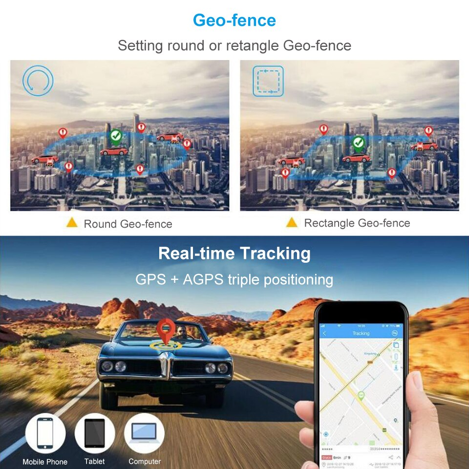 AT4 Magnetic GPS Tracker Anti-Theft GSM Waterproof IP65 Asset Locator with 10000mAh Real-Time Tracking APP for Google Map enlarge