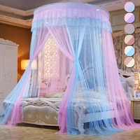 princess canopy mosquito net foldable bed canopy ceiling mounted musquito net with hook mix color tent twin full bed curtain d20