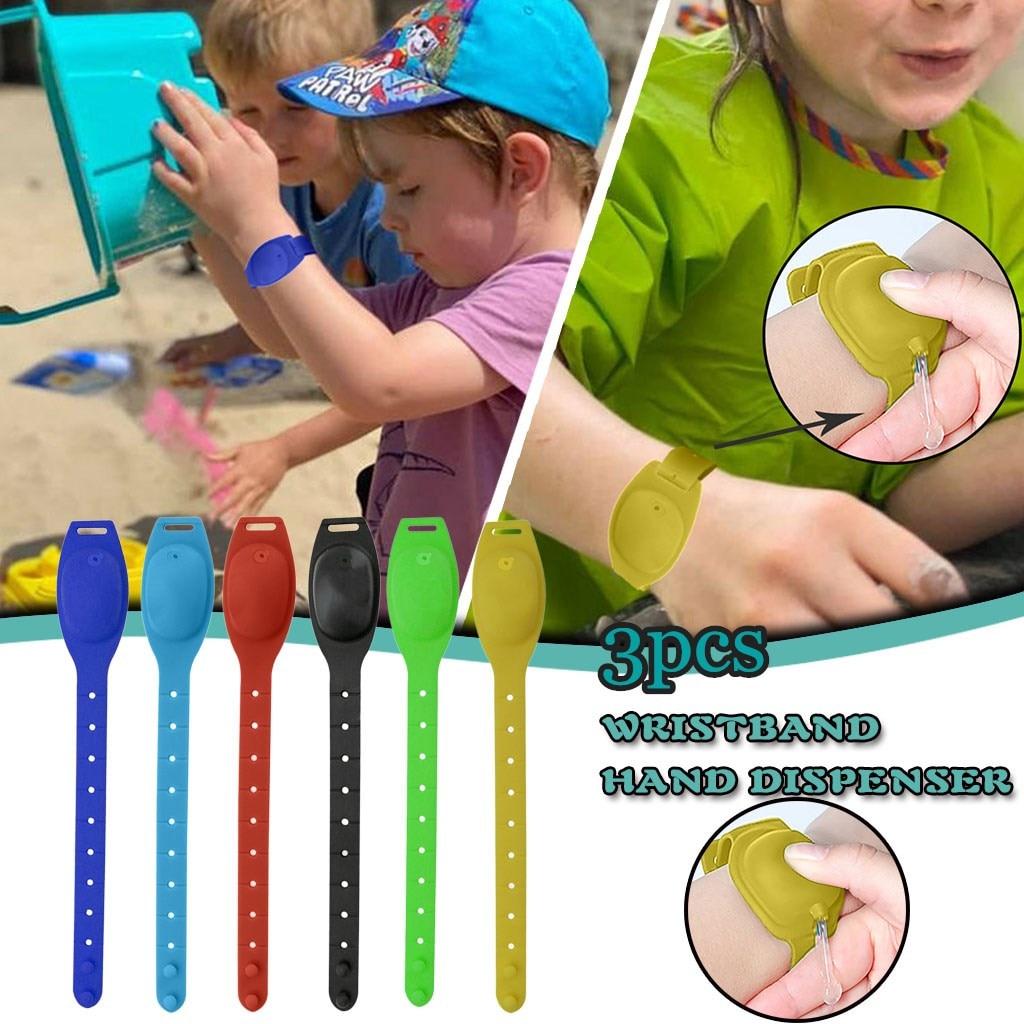 3 pçs pulso desinfetante de mão dispensador novo tipo portátil silicone desinfecção pulseira pode armazenar desinfetante, desinfetante de mão # a