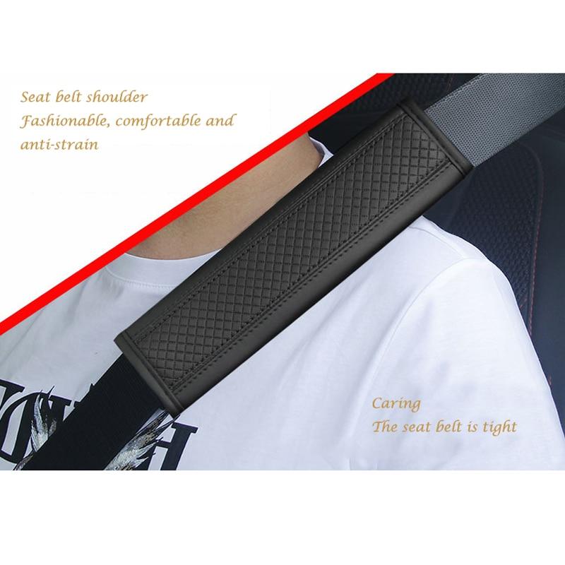 Мягкий и удобный наплечный чехол для ремня безопасности, чехол для автомобильного сиденья, защитный чехол для ремня безопасности, кожаный н...