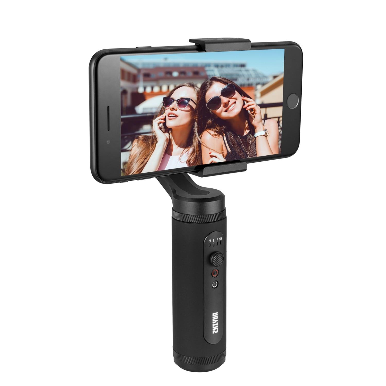 Zhiyun Smooth Q2 estabilizador de cardán de mano de 3 ejes para vlogs YouTube video registro Street Snapshots que para iPhone Xs 8Plus 6