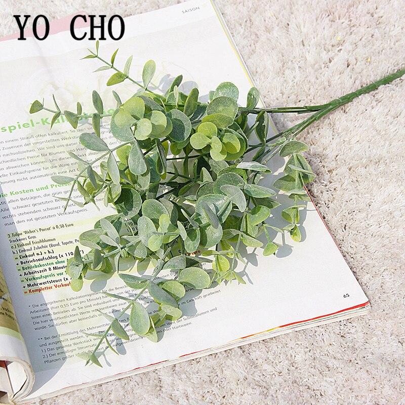 Yo Cho Artificial Eucalyptus Plant Plastic Green Fake Eucalyptus For Diy Shop Coffee Decor Natural Artificial Plants Home Decor Artificial Plants Aliexpress