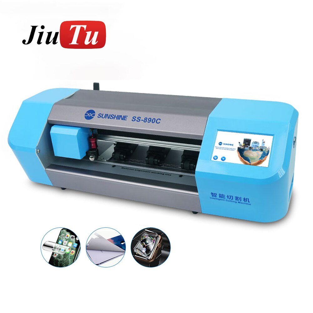 Auto Film Cutting Machine Phone LCD Screen Protect Glass Back Cover With Flexible Hydrogel Sticker