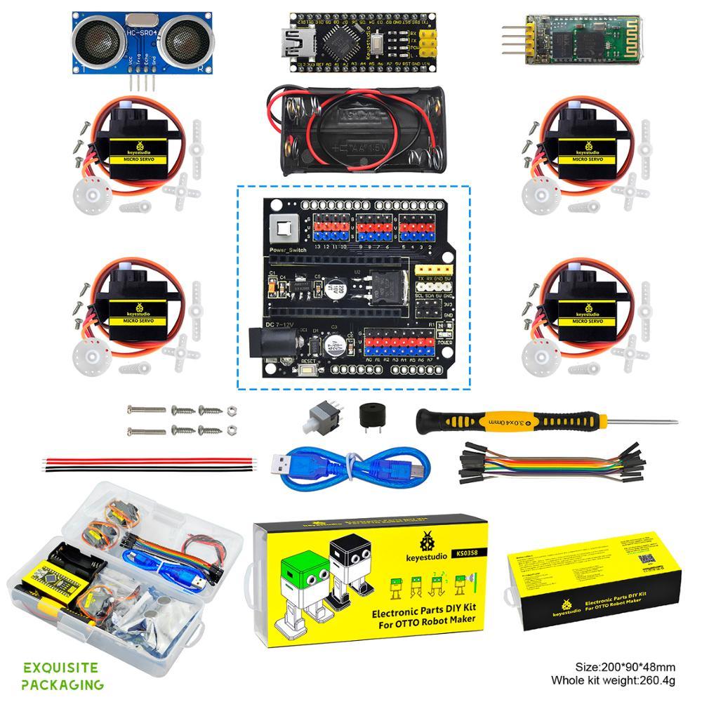 Keyestudio-مجموعة بدء التشغيل لروبوت Arduino OTTO DIY (بدون أجزاء طابعة الجسم)