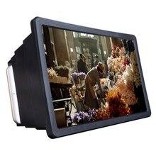 Amplificador de vídeo do filme 3d hd da lupa da tela do telefone celular 1pc com suporte dobrável amplificador de vídeo de alta qualidade