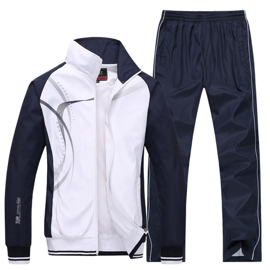 VIANKANI 2021 جديد رياضية الرجال حجم كبير 4XL ربيع الخريف قطعتين مجموعة ملابس بذلة رياضية غير رسمية رياضية sweatsuit 5XL
