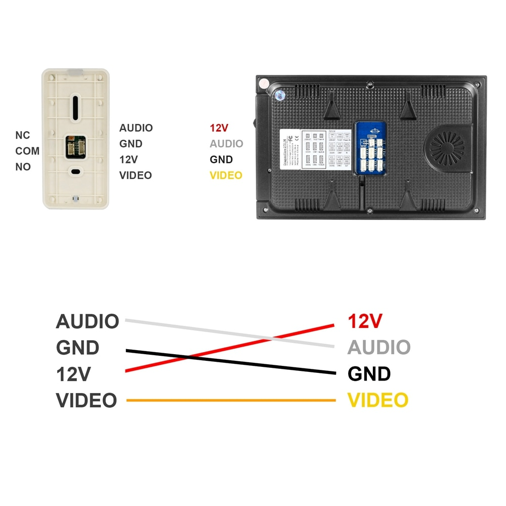 Wired Video Intercom for Home Video Door Phone Intercom System 7 Inch Analog Monitor Doorbell Support Motion Detection Recording enlarge