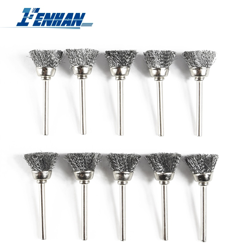 30pcs mini rotary stainless steel wire wheel wire brush small wire brushes set dremel accessories for mini drill rotary tools Stainless Steel Wire Wheel Brushes 10pcs/Set Grinder Brushes For Dremel Mini Drill Rotary Tools Grinding Rotary Tools