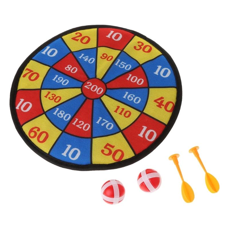 Sport Spielzeug Stoff Dart Board Set Kid Ball Ziel Spiel Für Kinder Sicherheit Spielzeug E65D