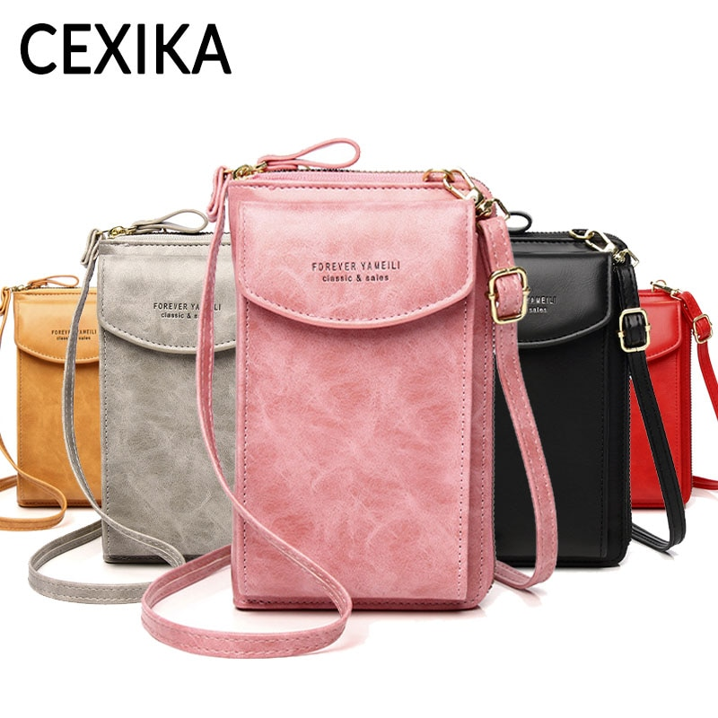 Women Long Wallet Mobile Phone Bag Clutch Multifunctional Purse Zipper Mobile Phone Pocket Card Hold