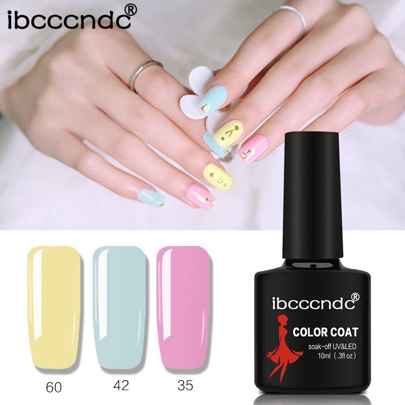 Ibcccndc 10ML UV Gel Nail Polish 80 Color Nail Gel Polish Vernis Semi Permanent Nail Primer Gel Varnishes Gel Lak Lacquer 31-60